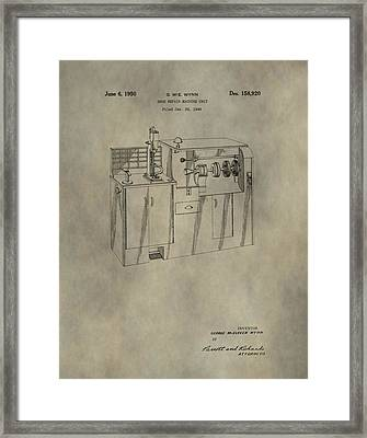 Vintage Shoe Repair Machine Patent Framed Print by Dan Sproul