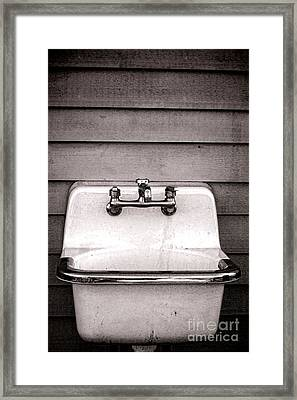 Vintage Sink Framed Print by Olivier Le Queinec