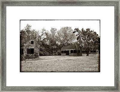 Vintage Slave Quarters Framed Print by John Rizzuto