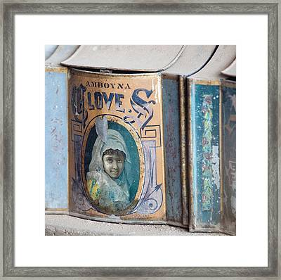 Vintage Soap Framed Print by Art Block Collections