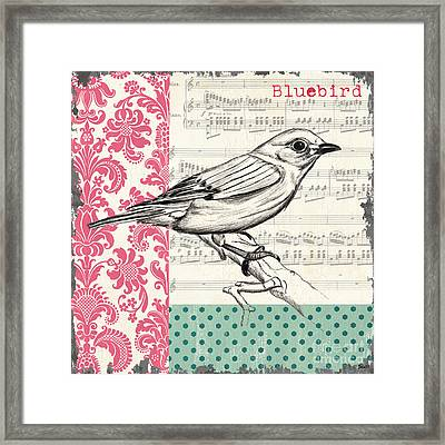 Vintage Songbird 1 Framed Print by Debbie DeWitt
