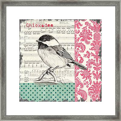 Vintage Songbird 3 Framed Print by Debbie DeWitt