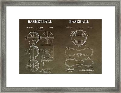 Vintage Sports Patent Framed Print by Dan Sproul