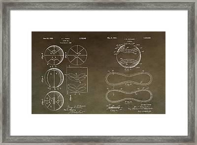 Vintage Sports Patent Drawing Framed Print by Dan Sproul