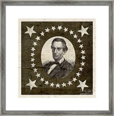 Vintage Star Spangled Abraham Lincoln Framed Print by John Stephens