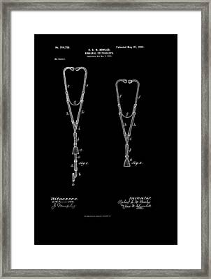 Vintage Stethoscope Patent Framed Print by Mountain Dreams