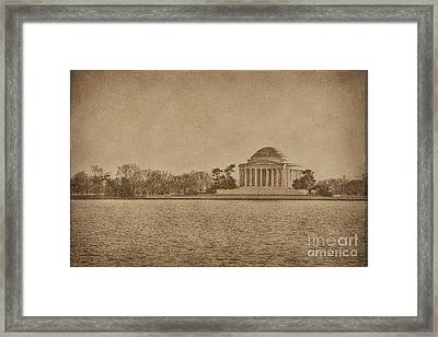 Vintage Style Jefferson Memorial Framed Print by Emily Kay
