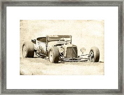 Vintage T Bucket Ford Framed Print by Steve McKinzie