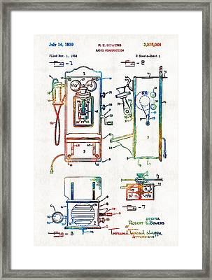 Vintage Telephone Radio Art - Radio Construction - By Sharon Cummings Framed Print by Sharon Cummings