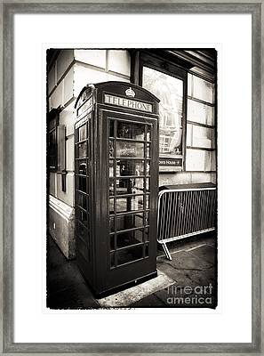 Vintage Telephone Booth Framed Print by John Rizzuto
