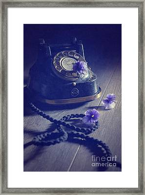 Vintage Telephone Framed Print by Amanda And Christopher Elwell