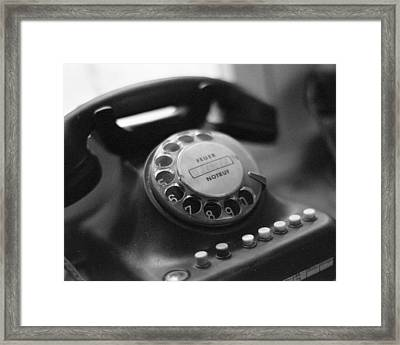 Vintage Telephone Framed Print by Marcio Faustino