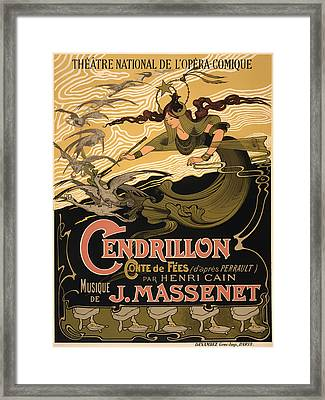 Vintage Theatre Poster - 1899 Framed Print by Mountain Dreams