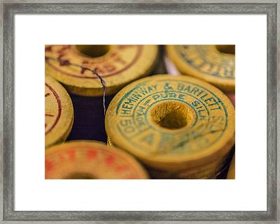 Vintage Thread Framed Print by Jon Woodhams