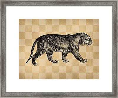 The Tiger Framed Print by Flo Karp