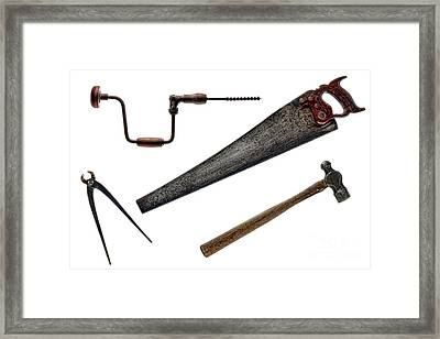 Vintage Tools Collection  Framed Print by Olivier Le Queinec