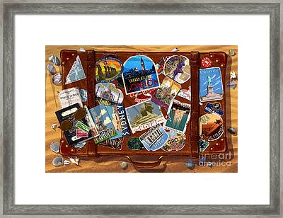 Vintage Travel Case Framed Print by Garry Walton