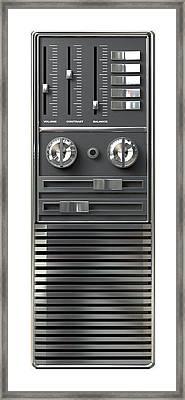 Vintage Tv Control Panel Framed Print by Allan Swart