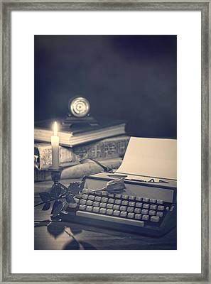 Vintage Typewriter Framed Print by Amanda Elwell