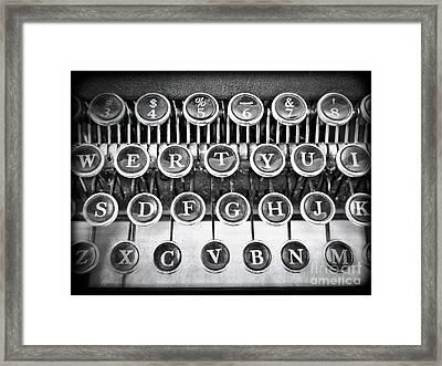 Vintage Typewriter Framed Print by Edward Fielding