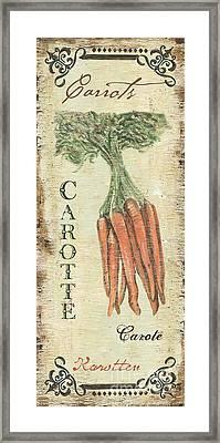 Vintage Vegetables 4 Framed Print by Debbie DeWitt