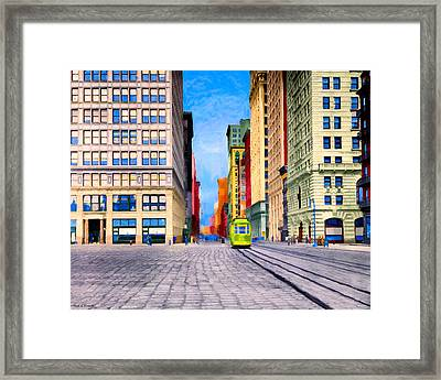 Vintage View Of New York City - Union Square Framed Print by Mark E Tisdale