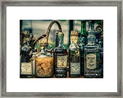 Vintage Vinegar Counter Framed Print by Grace Grogan
