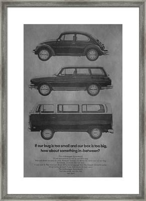 Vintage Volkswagen Ad 1971 Framed Print by Dan Sproul