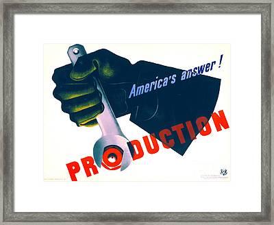 Vintage War Poster 1941 Framed Print by Padre Art