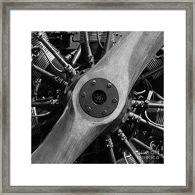 Vintage Wood Propeller - 7d15828 - Square - Black And White Framed Print by Wingsdomain Art and Photography