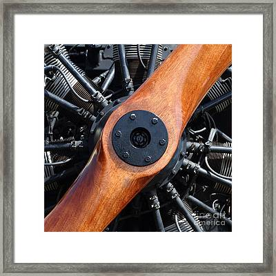 Vintage Wood Propeller - 7d15828 - Square Framed Print by Wingsdomain Art and Photography