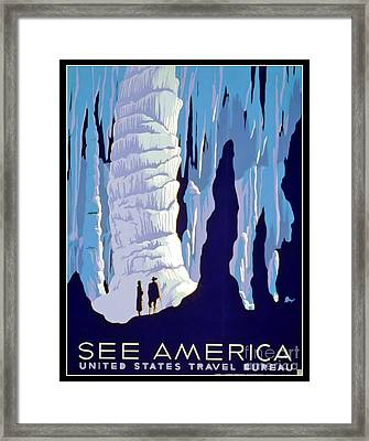 Vintage Wpa Poster See America Framed Print by Edward Fielding
