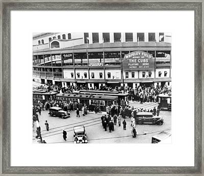 Vintage Wrigley Field Framed Print by Horsch Gallery