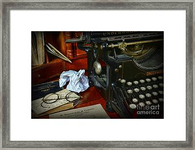 Vintage Writers Desk Framed Print by Paul Ward