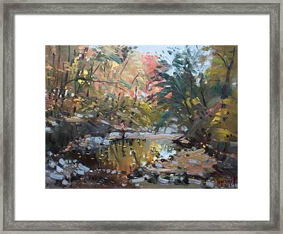 Viola At The Creek Framed Print by Ylli Haruni