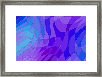 Violet Blue Abstract Framed Print by L Brown