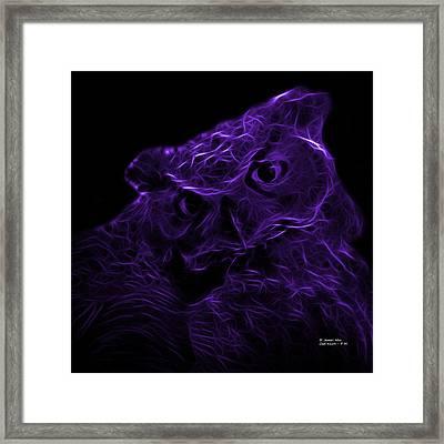 Violet Owl 4229 - F M Framed Print by James Ahn