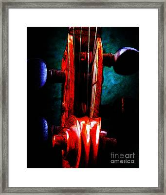 Violin 2 - V2 Framed Print by Wingsdomain Art and Photography