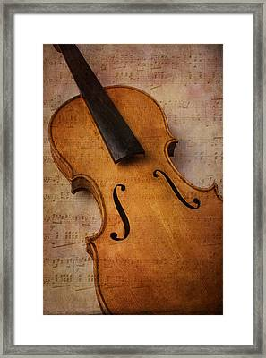 Violin Abstract Framed Print by Garry Gay