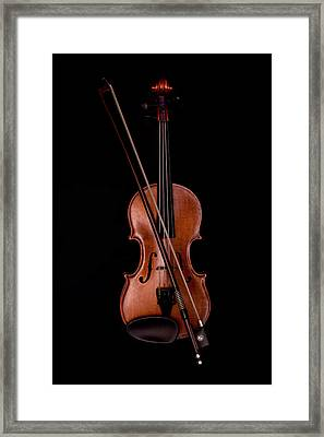 Violin Framed Print by Andrew Soundarajan