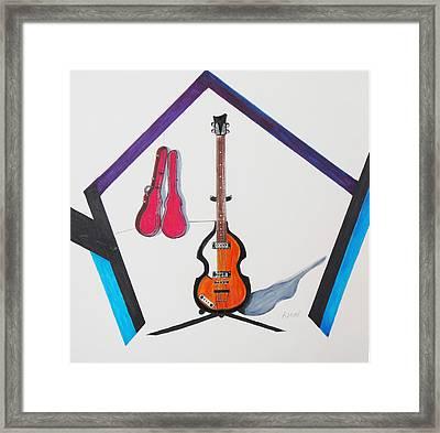 Violin Bass Framed Print by Kenneth A Mc Williams