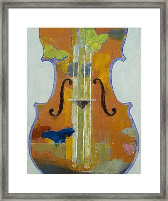 Violin Butterflies Framed Print by Michael Creese