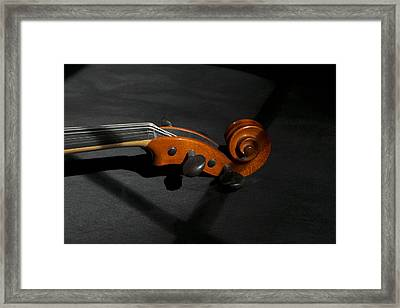 Violin In Shadow Framed Print by Mark McKinney
