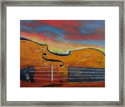 Violin Framed Print by Michael Creese