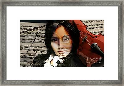 Violin Painting Framed Print by Marvin Blaine