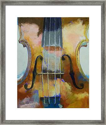 Violin Painting Framed Print by Michael Creese