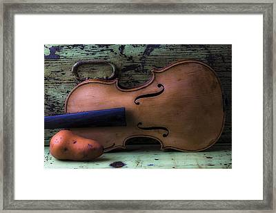 Violin Pear Study Framed Print by Garry Gay