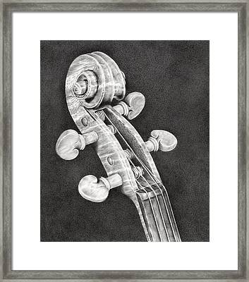 Violin Scroll Framed Print by Remrov Vormer