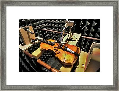 Violin Tests In Anechoic Chamber Framed Print by Patrick Landmann