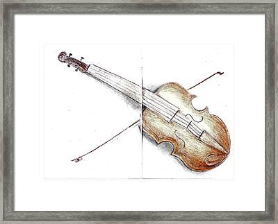 Violine Framed Print by Nazy Ch